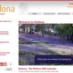 Screen shot of the Dodona Publishing website created by Nepeta Consulting
