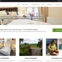Screen shot of Herefordshire Holidays website created by Nepeta Consulting
