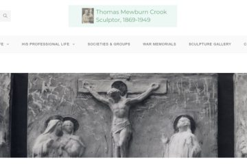 Screenshot of the Thomas Mewburn Crook website created by Nepeta Consulting