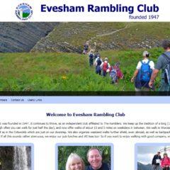 Screen shot of Evesham Rambling Club website