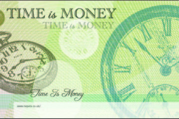 Time is Money - a Nepeta Consulting Banknote