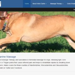 Screen shot of dog-massage.co.uk