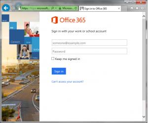 O365 Login Screen