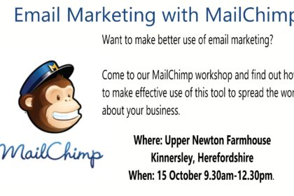 Email Marketing with MailChimp- details of SMall Business Clinic workshop