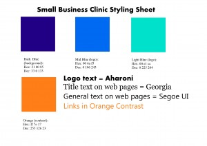 Example of a styling sheet - an important aid in branding