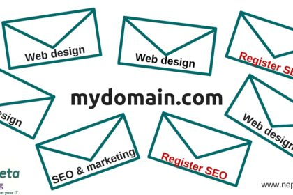 When you register a .com domain, you may get spam emails