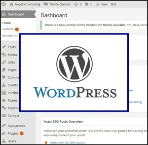 wordpress logo on a dashboard