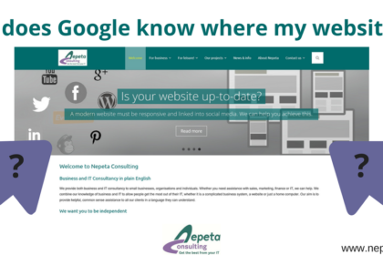 How does Google know where my website is?