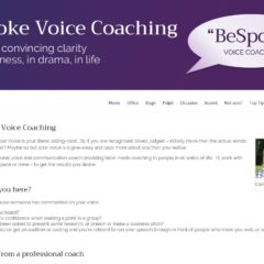 Screen shot of Bespoke Voice Coaching website, created by Nepeta Consulting