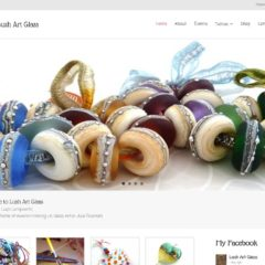 Screenshot of Lushartglass.com - a website by Nepeta Consulting