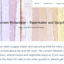 Maureen Richardson home page- website by Nepeta Consulting