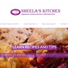 Screenshot of Sheela's Kitchen, a website built with Nepeta Consulting