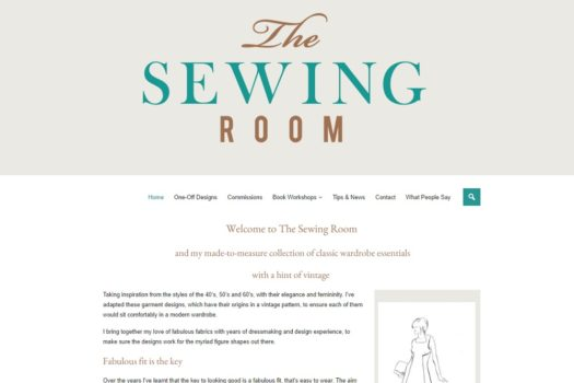 The Sewing Room Front page screenshot