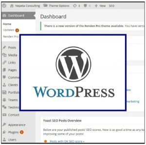 WordPress logo on dashboard - Nepeta Consulting uses WordPress for websites