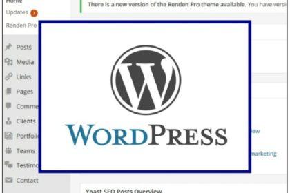 WordPress logo on dashboard - Nepeta Consulting uses WordPress for websites