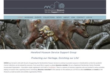 Top part of the home page of Hereforshire Museum Support Services Group - created by Nepeta Consulting