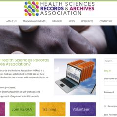 Health Sciences Records and Archives Association website - created by Nepeta Consulting