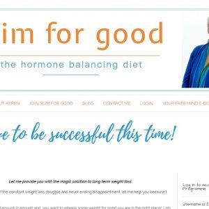 Screenshot of Slimforgood - a membership website created by Nepeta Consulting