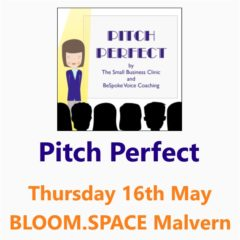 Pitch Perfect - A small business clinic workshop on presenting, Malvern 16 May 19