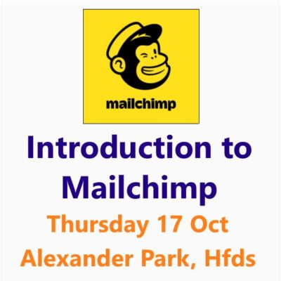 Introduction to Mailchimp 17 Oct 2019 Hereford. A Small Business Clinic Workshop by Nepeta Consulting