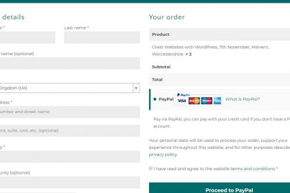 Screenshot of an online checkout - this could be affected by SCA regulations - Nepeta Consulting