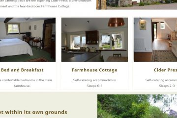 Cowleigh Park Farm -middle of home page. DEveloped by Nepeta Consulting