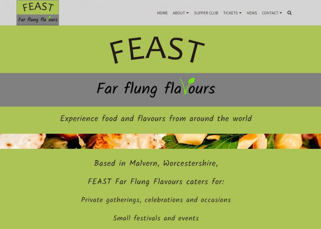FEAST - Far Flung Flavours - website by Nepeta Consulting