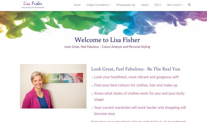 Lisa Fisher website - home page - designed by Nepeta Consulting