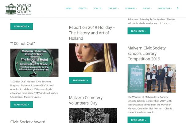 Malvern Civic Society - news page - developed by Nepeta Consulting