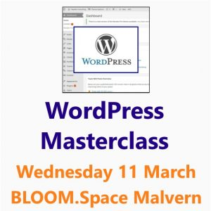 WordPress Masterclass - a Small Business Clinic workshop 11th March 2020 at Bloom.Space Malvern