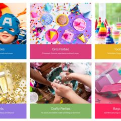 Excerpt from Cosmos Party Supplies home page - website by Nepeta Consulting