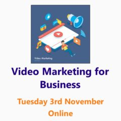Video Marketing workshop 3rd November 2020 - an online Small Business Clinic workshop by Nepeta Consulting