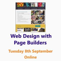 Web design with Page Builders - an online workshop from the Small Business Clinic, Nepeta Consulting