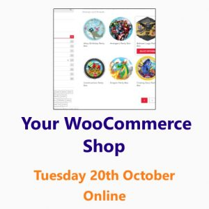 Setting up a WooCommerce online shop 20th October 2020- an online workshop from the Small Business Clinic by Nepeta Consulting