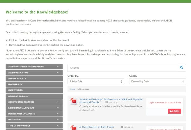 AECB Document Library - a website designed and maintained by Nepeta Consulting
