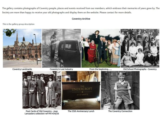 Photo archive Coventry Family History website by Nepeta Consulting