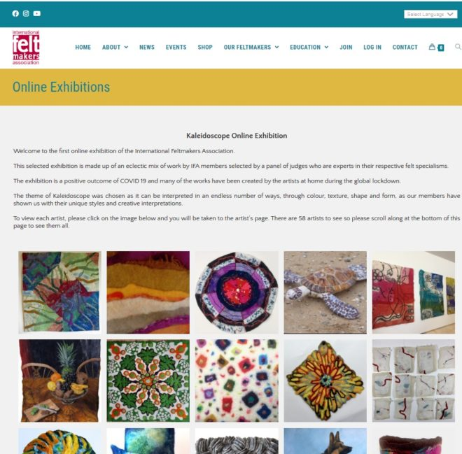 International Feltmakers Association Online Exhibition - a website designed and maintained by Nepeta Consulting