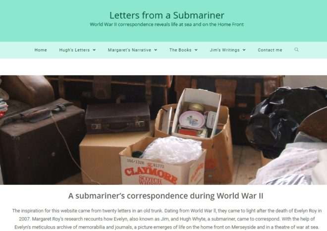 Letters from a submariner - front index - a website by Nepeta Consulting