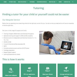St Peters Tutors - tutor application page - website by Nepeta Consulting